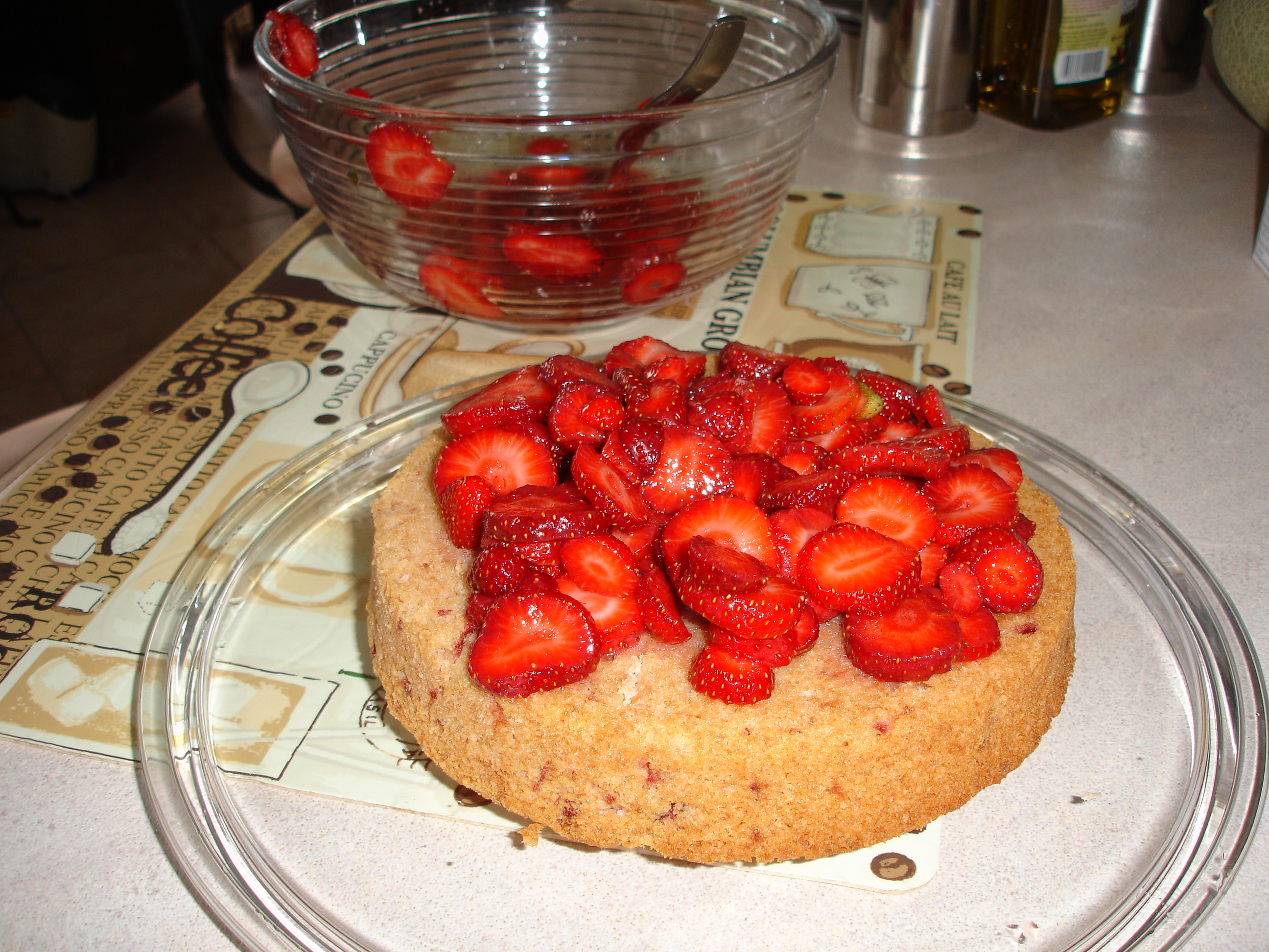 cuban dinner strawberry cake