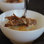 In these cute little bowls there was veal with malanga puree, an excellent paring.